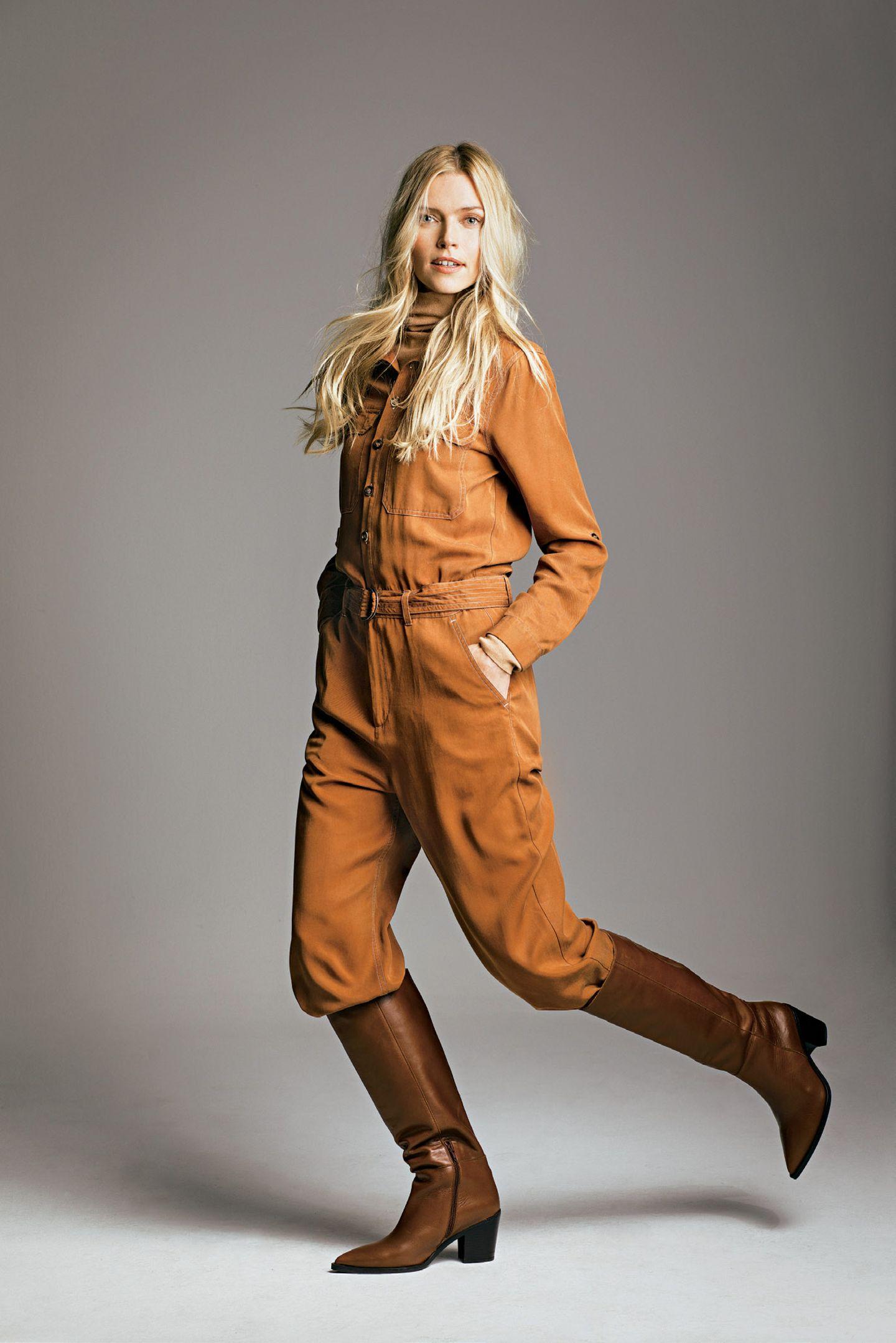 Fashion-Highlights: Schöne Mode-Trends der Saison: Overall braun