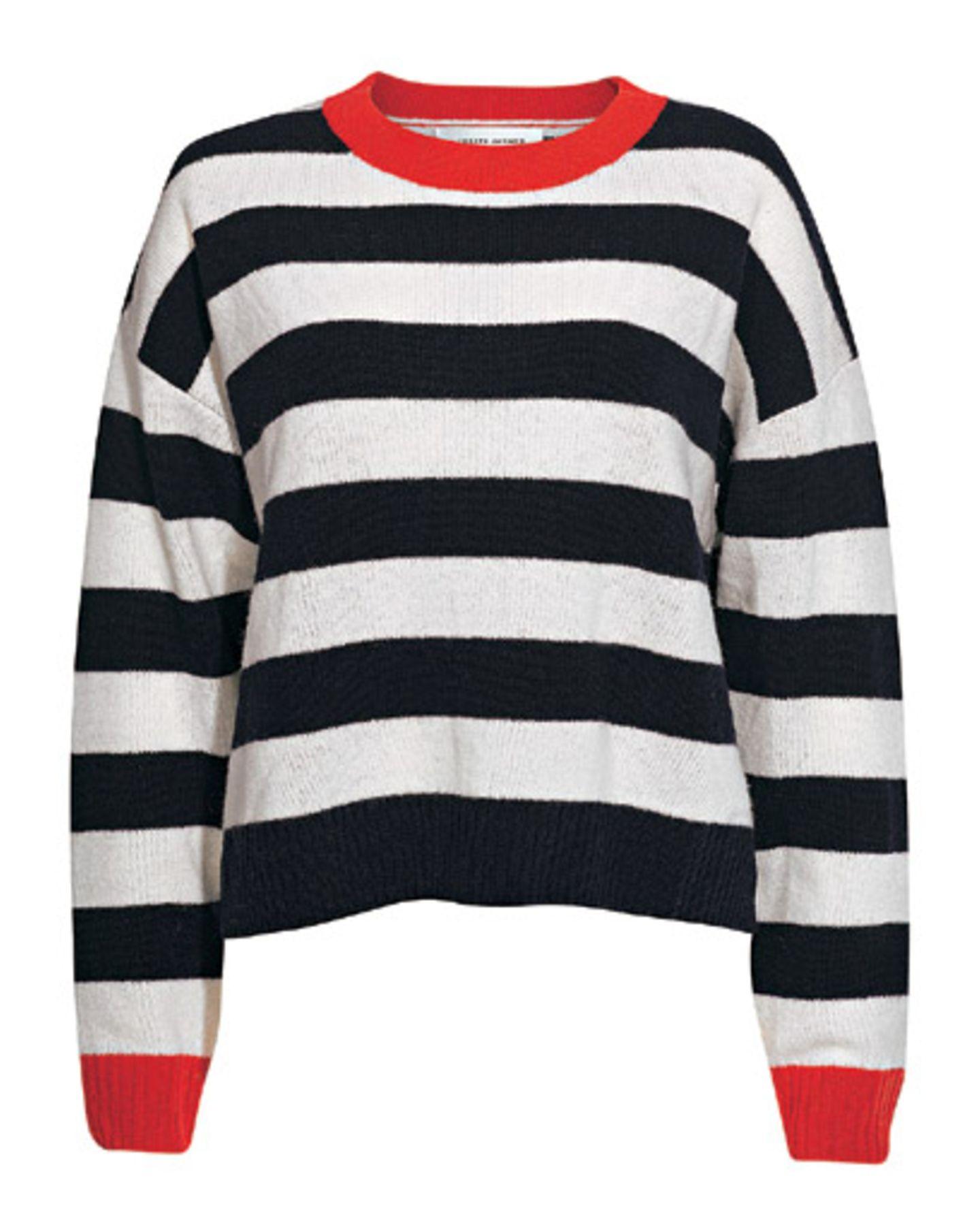 Fashion-Highlights: Schöne Mode-Trends der Saison: Pulli schwarz-weiß gestreift