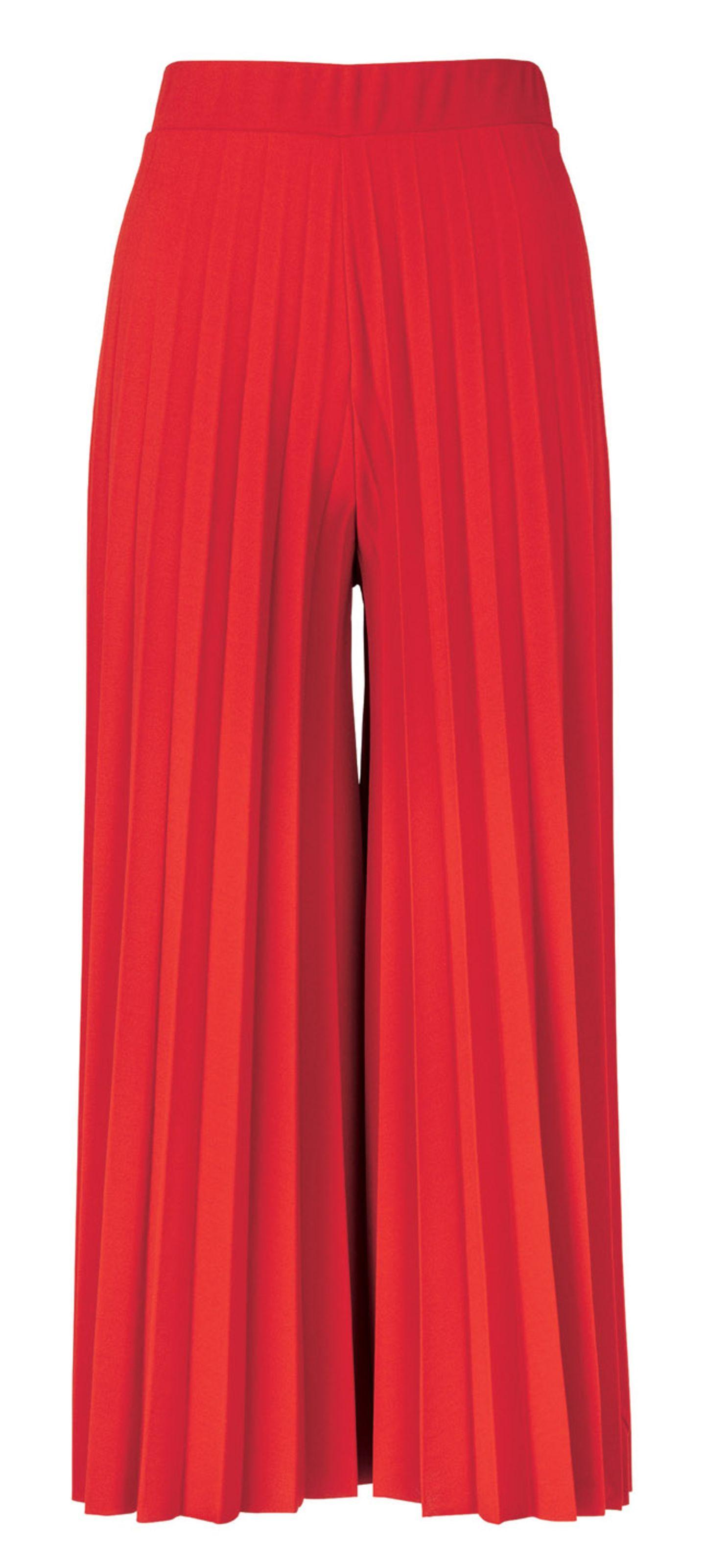 Fashion-Highlights: Schöne Mode-Trends der Saison: Rote Culotte