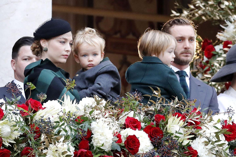 Royale Kinderfotos: Pierre Casiraghi, Beatrice mit Söhnen Francesco und Stefano
