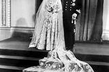 Prinz Philip und die Queen: bei ihrer Hochzeit