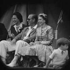 Prinz Philip und die Queen: im Publikum