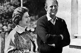 Prinz Philip und die Queen: lächeln