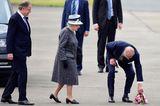 Prinz Philip und die Queen: mit Blumen