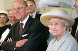 Prinz Philip und die Queen: mit Brillen