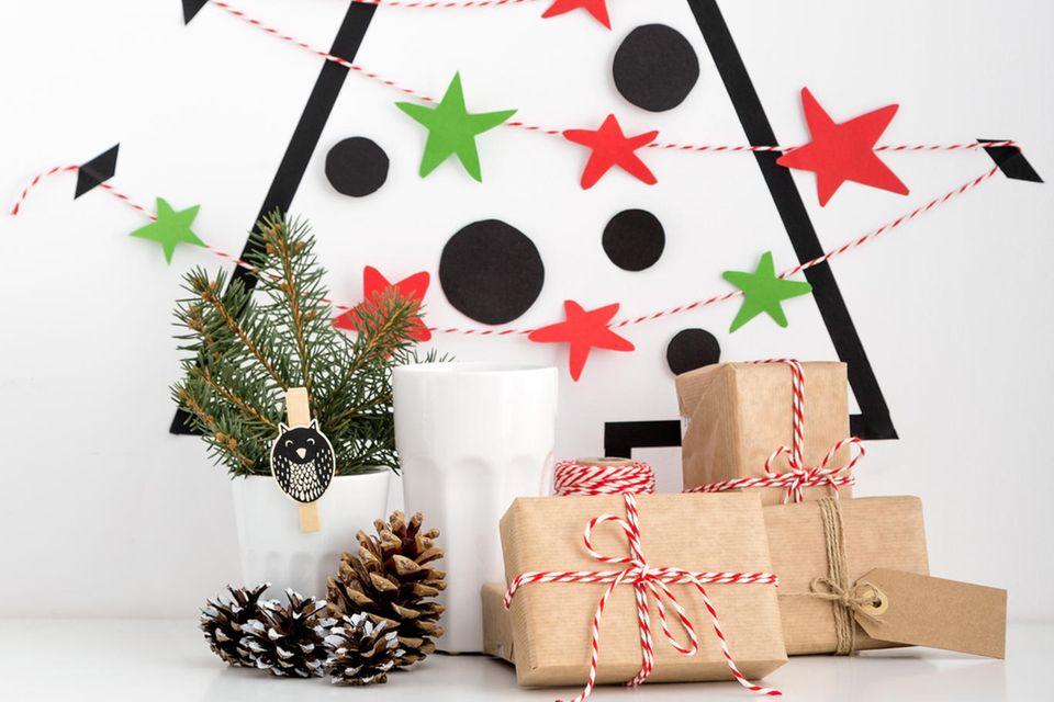 Alternativen zum Weihnachtsbaum: Weihnachtsbaum aus Tape