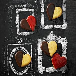 Himbeer-Herzen