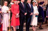 Meghan, Kate und Co. 2019: Prinz Harry, Prinz William, Meghan Markle und KateMiddleton stehen