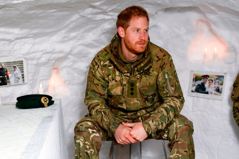 Meghan, Kate und Co. 2019: Prinz Harry sitzt im Iglo