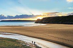 Three Cliffs Bay gilt als eine der schönsten Buchten der Welt