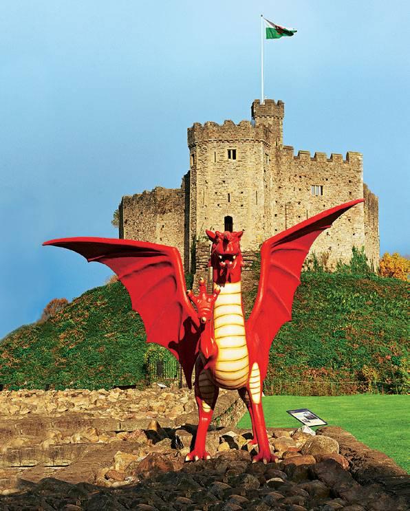 Der rote Drache symbolisiert die keltische Kultur