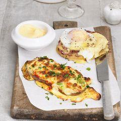 Überbackenes Ei-Toast