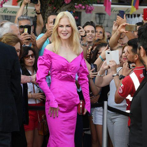 Modepannen der Stars: Nicole Kidman im pinken Kleid
