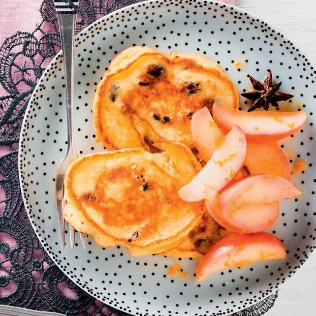 Quarkkeulchen mit Apfelkompott