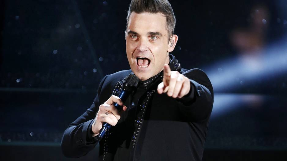 Elton John bewahrt Robbie Williams vor Absturz: Foto von Robbie Williams