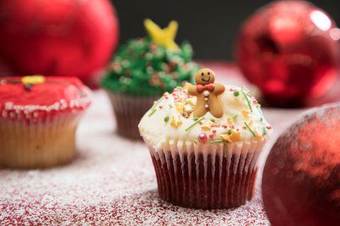 Muffin mit Schneemann