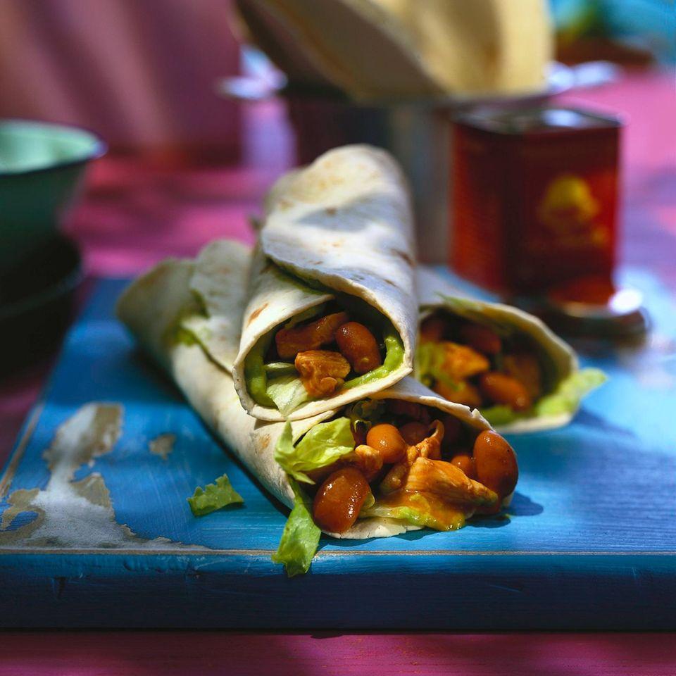 Chili-Chicken-Wraps