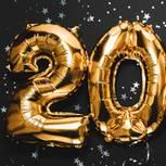 Jahreshoroskop 2020: 2020 aus goldenen Luftballons
