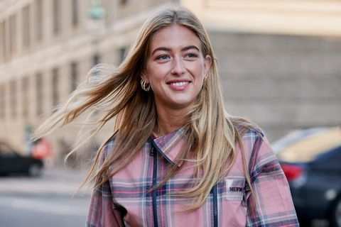 Streetstyle: blonde Beachwaves