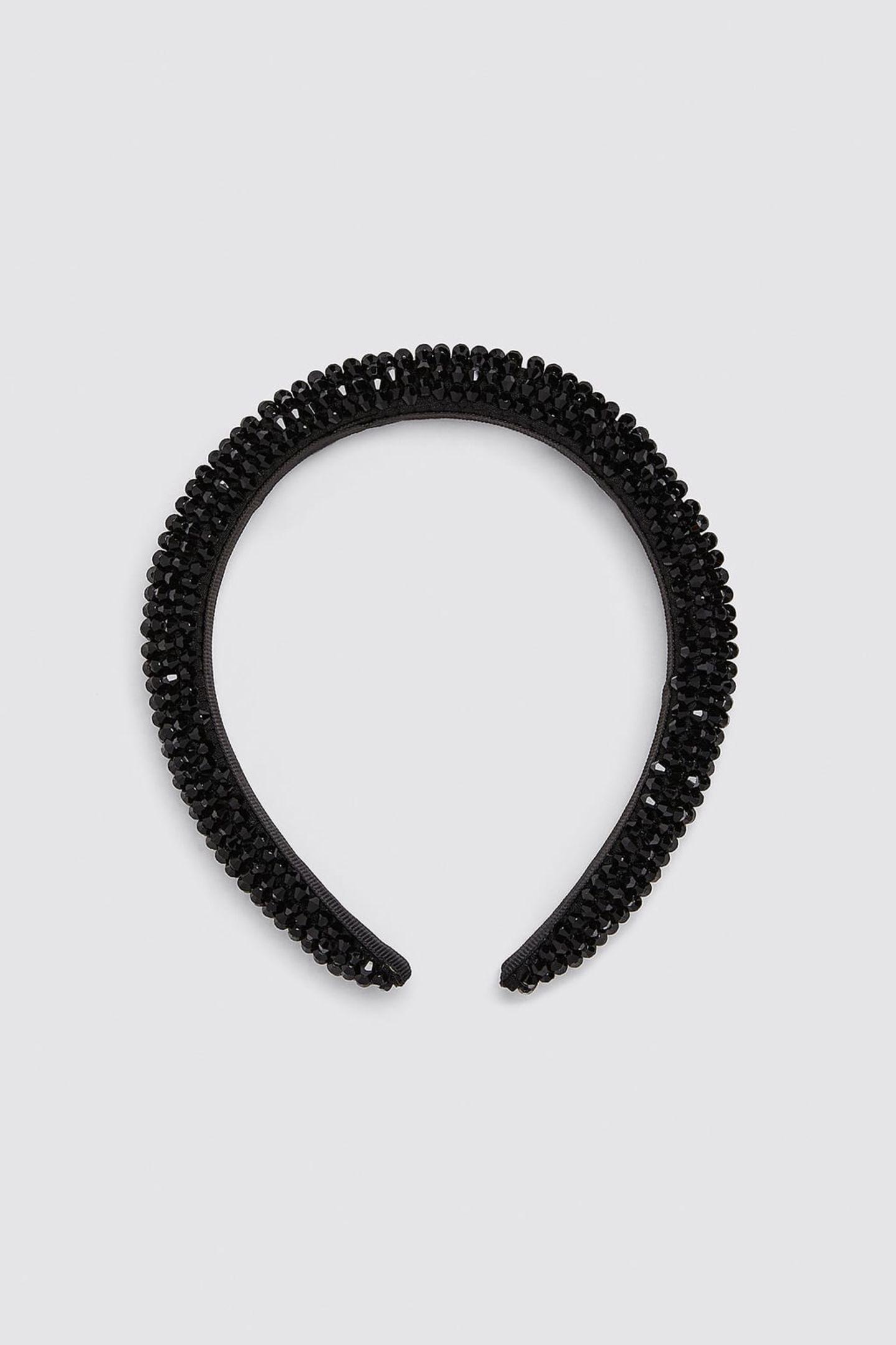 Haarreif mit schwarzen Perlen