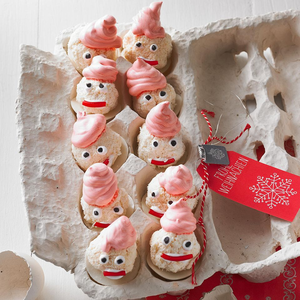 Weihnachtsmänner aus Baiser
