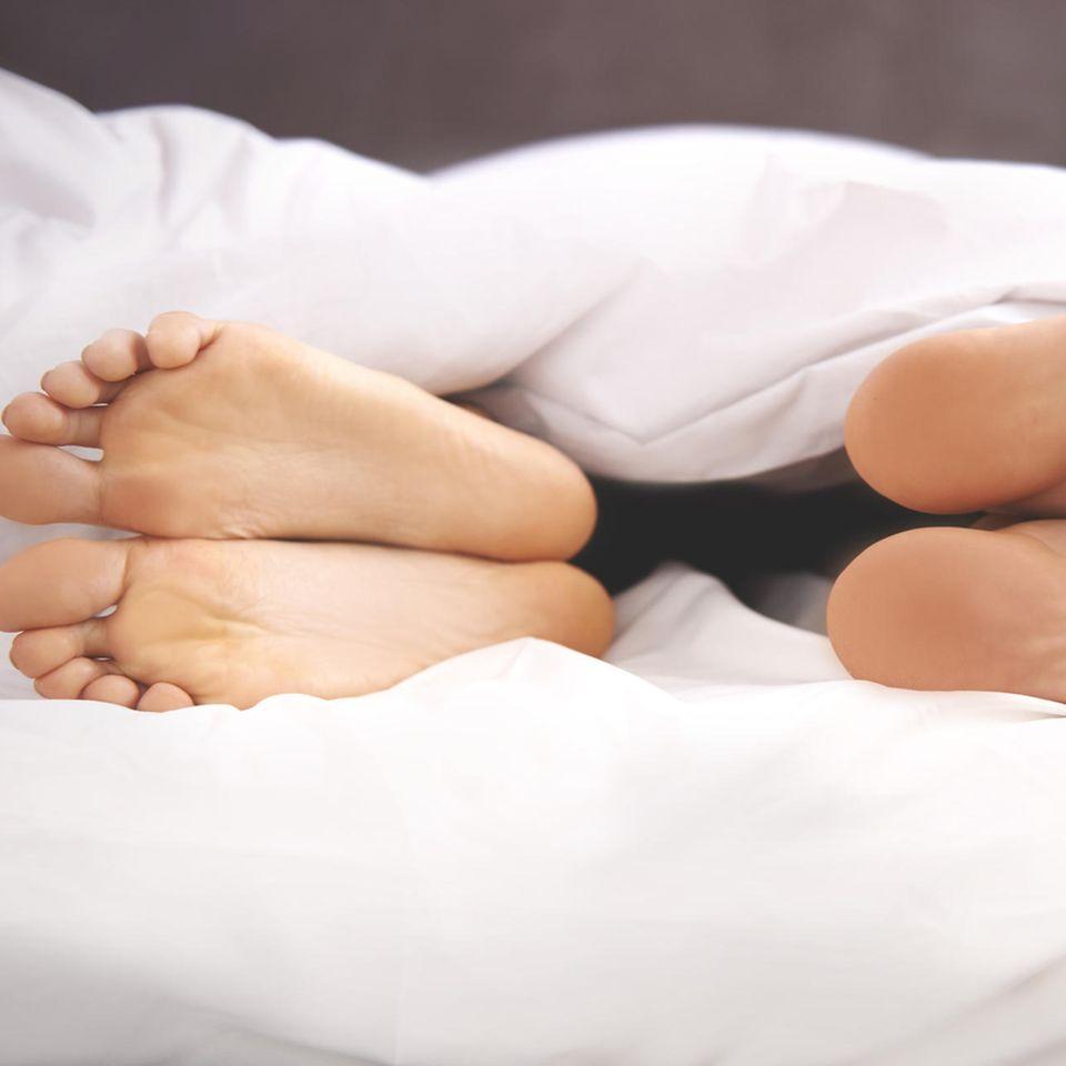 Schlechter Sex: Füsse im Bett