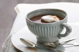 Klassische heiße Schokolade