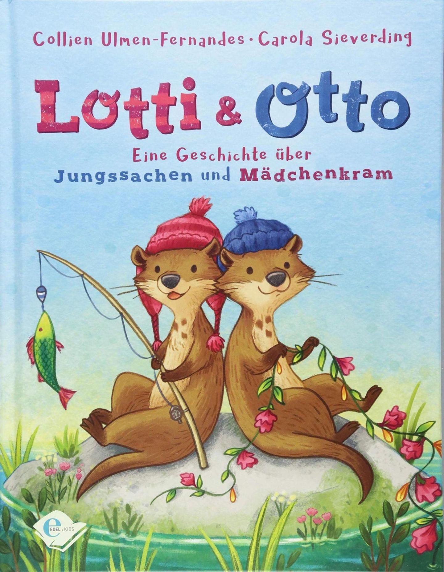 Als sich Lotti und Otto im Ferienlager begegnen, ist das Erstaunen groß: Die beiden Otterkinder gleichen sich wie ein Ei dem anderen! Und doch sind sie ganz verschieden: Lotti ist ein Mädchen und Otto ein Junge. Otto backt und näht gerne, während Lotti am liebsten draußen herumtollt und Fische fängt. Aber Backen ist doch Mädchenkram und Fische fangen Jungssache – oder?    Lotti und Otto: Eine Geschichte über Jungssachen und Mädchenkram von Collien Ulmen-Fernandes und Carola Sieverding erschienen bei Edel Kids Books für 14 €