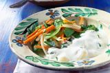 Gnocchi in Käsesahnesoße mit Frühlingsgemüse