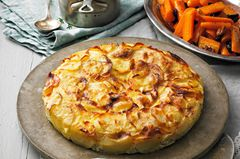 Vegetarisches Weihnachtsmenü: Kartoffelgratin