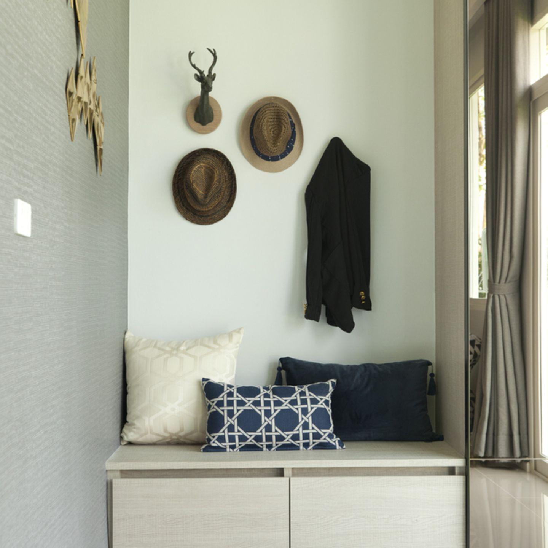 Flur einrichten: Garderobe und Sitzecke