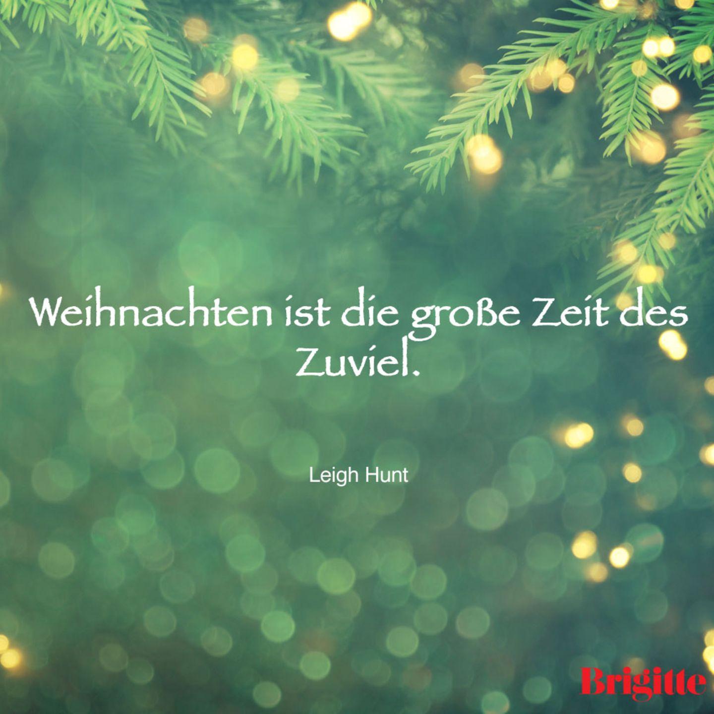 Weihnachten ist die große Zeit des Zuviel.