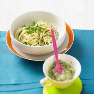 Bavette mit Brokkoli-Pesto