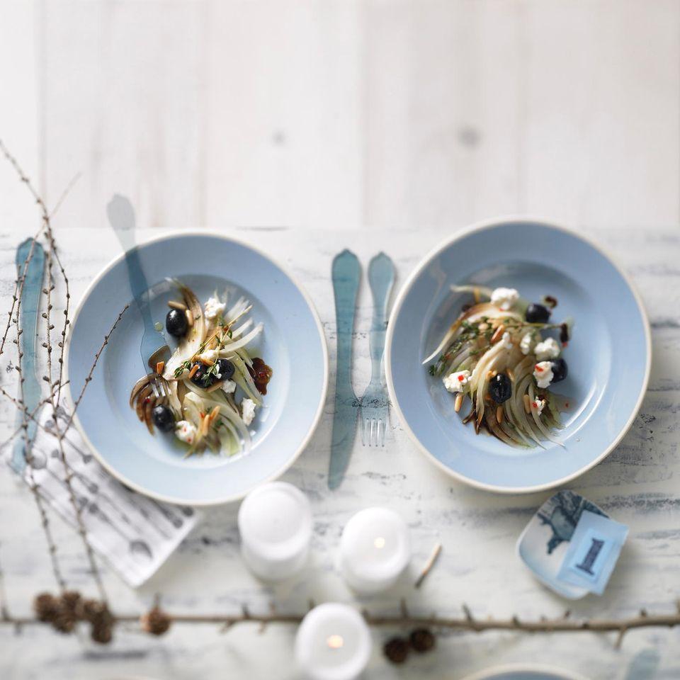 Fenchelsalat mit Ricotta-Flocken