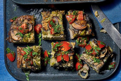 Tortilla mit Kräuter-Tomaten