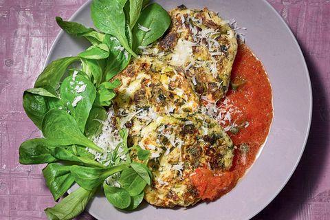 Feta-Medaillons mit Paprika-Salsa