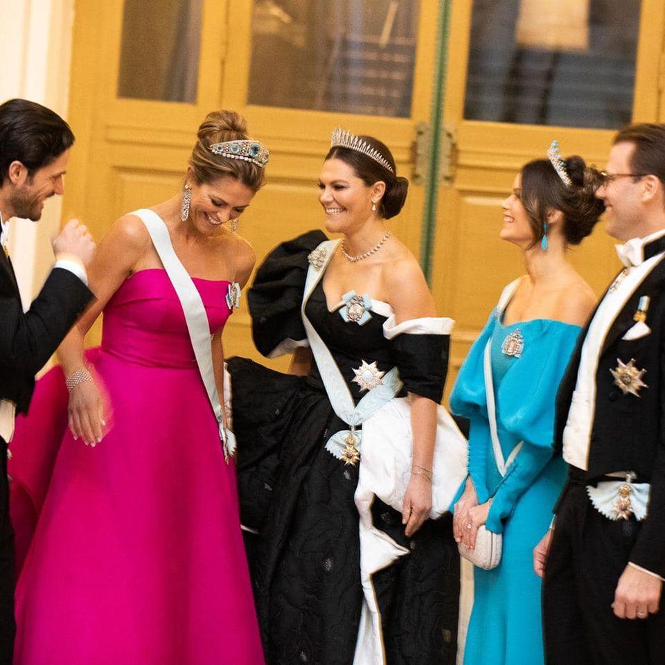 Prinzessin Victoria mit ihren Geschwistern