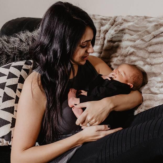 Lauren Battle mit ihrem Baby