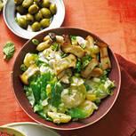 Kartoffelsalat Caprino mit gegrillten Kräuterseitlingen