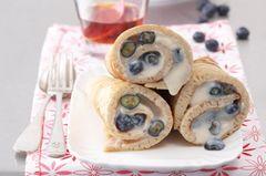 Buchweizen-Pfannkuchen mit Blaubeerfüllung
