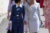 Gleiche Outfits der Royals: Abigail Spencer im Pünktchenkleid