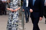 Gleiche Outfits der Royals: Herzogin Kate im Blumenkleid