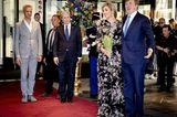 Gleiche Outfits der Royals: Königin Maxima im Blumenkleid