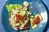 Stulle mit Pimento-Cheese und Zucchini