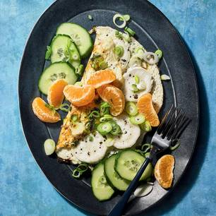 Ziegenkäse-Omelett mit Clementine