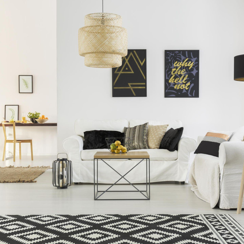 Wohntrends 2020: Wohnung in schwarz-weiß Tönen