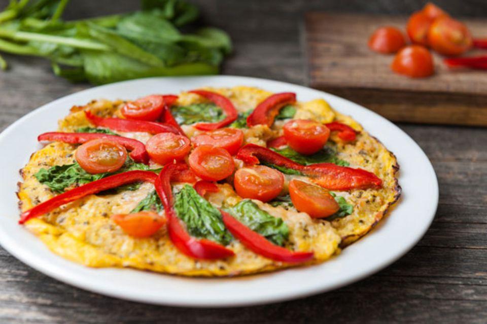 Low-Carb-Pizzateig mit Blumenkohl