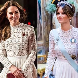 Gleiche Outfits der Royals: Herzogin Kate und Prinzessin Sofia von Schweden