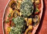 Spinat-Flan mit Tomaten-Ragout