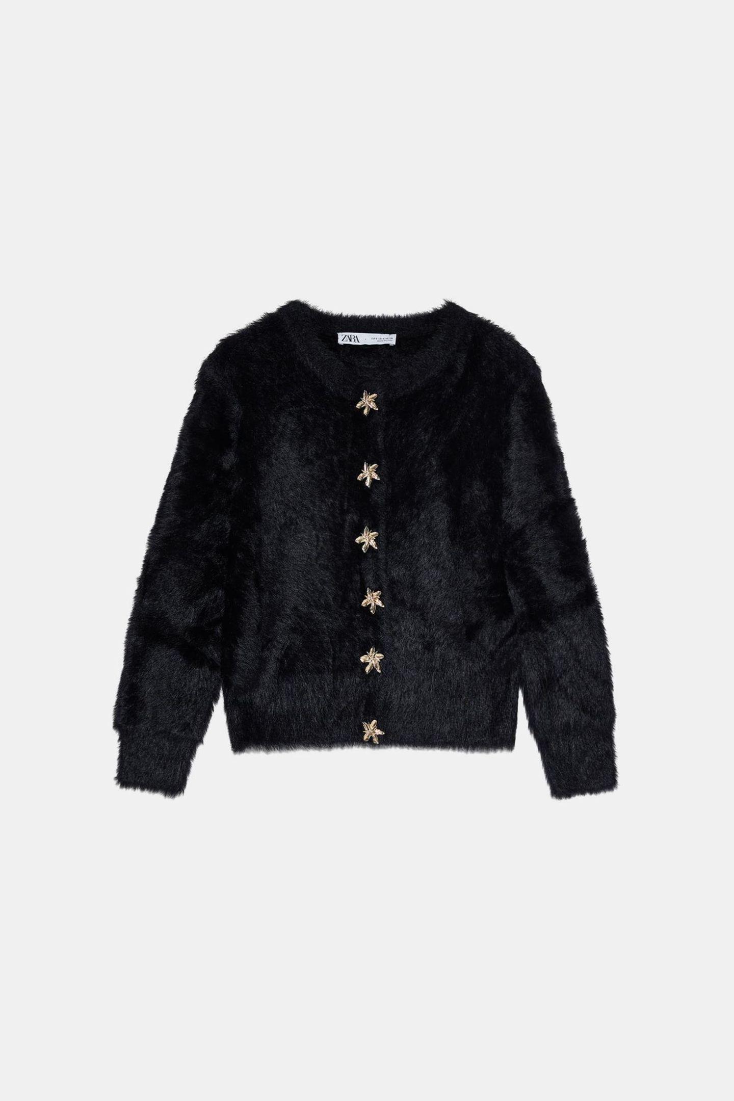 Jacke auf Kunstfell von Zara